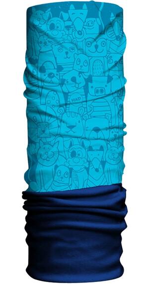 HAD Fleece sjaal Kinderen blauw/turquoise